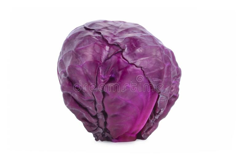 Red cabbage isolated on white background stock images