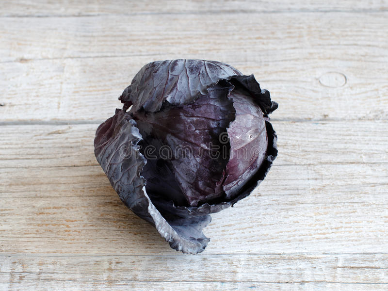 Red cabbage on wood stock images