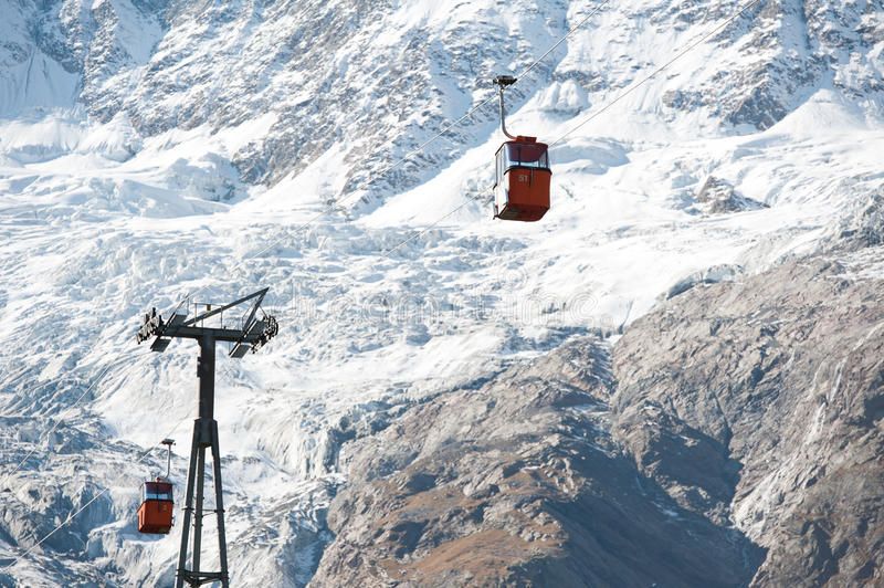 Download Red Cabins On Ski Lift Stock Photos - Image: 22942593