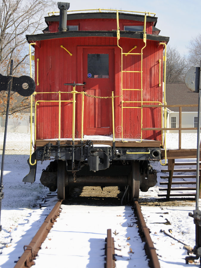 Free Red Caboose Royalty Free Stock Image - 4079636