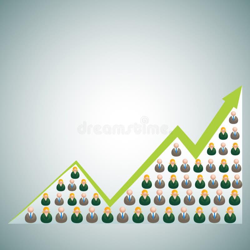 Red cada vez mayor del negocio stock de ilustración