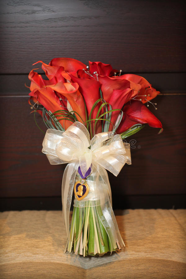 Red Calla Lily Flowers Stock Image
