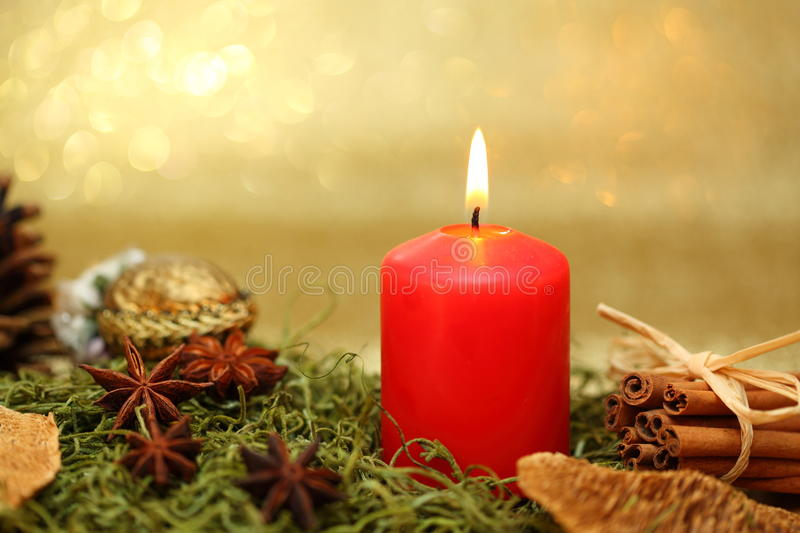 Download Red candle stock image. Image of flame, anise, christmas - 27934711