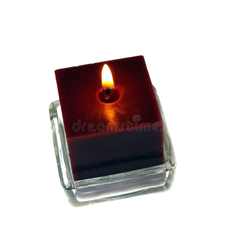 Download Red candle burn stock image. Image of decorative, glow - 28661475