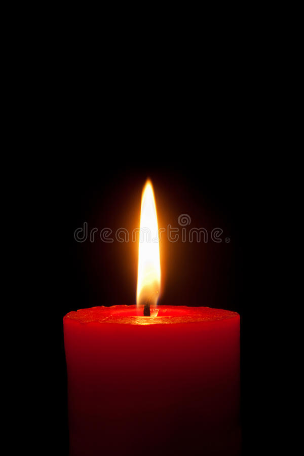 Download A Red Candle In Front Of Black Background Stock Image - Image: 16433633