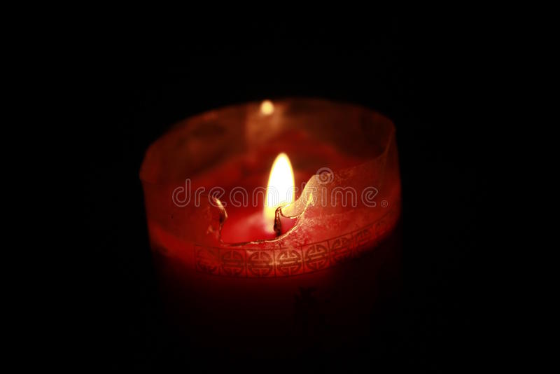 Red candle lights royalty free stock photo