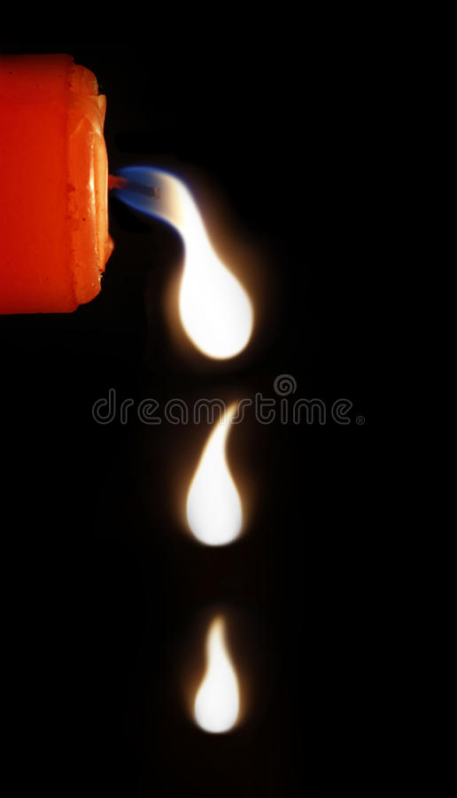 Download Red candle tears stock image. Image of quiet, orange - 28640157