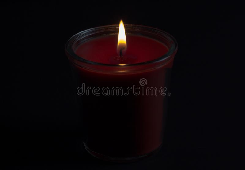 Red candle, valentines day, decoration, symbol stock images