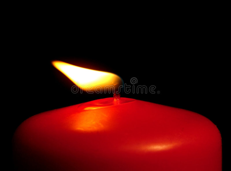 Red Candle in the Wind. Red Candle in the weak Wind stock photography
