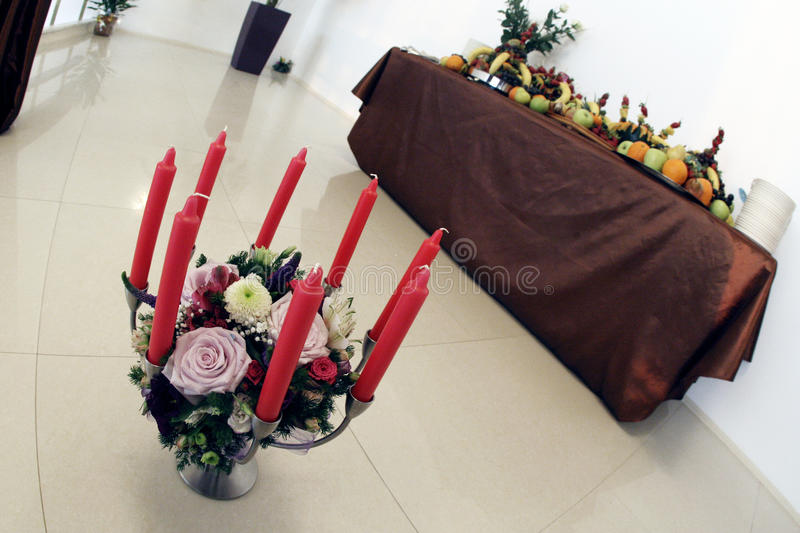Download Red candles stock photo. Image of design, room, interior - 14136238