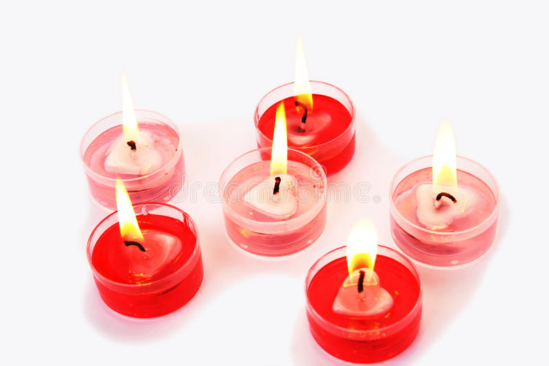 Red candles royalty free stock image
