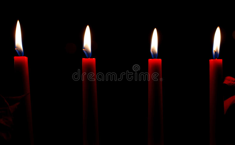Download Red candles stock image. Image of quiet, four, light - 22751571