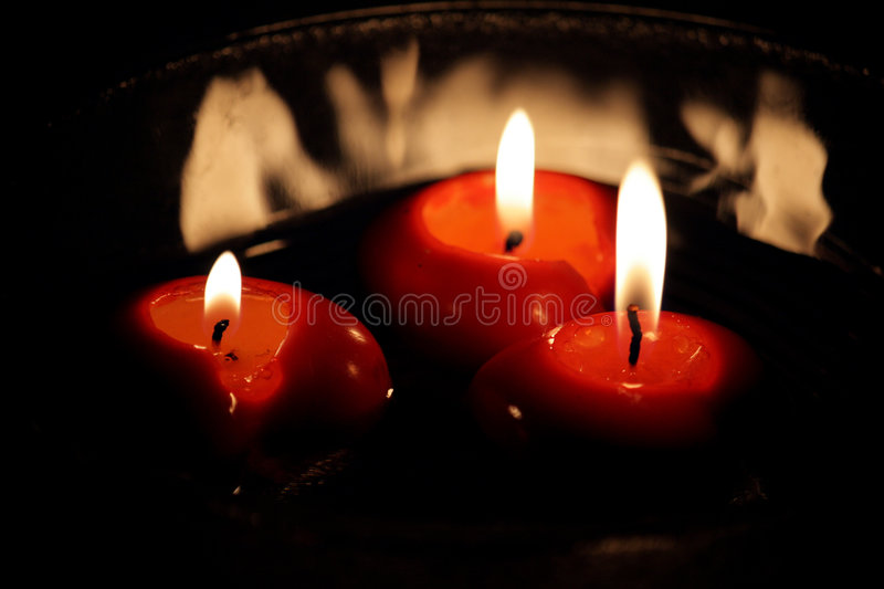 Download Red Candles stock image. Image of light, flame, decoration - 7556861