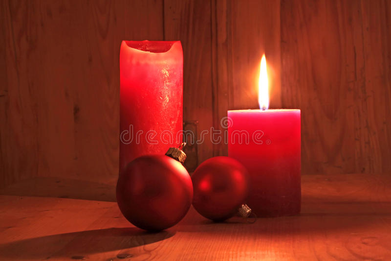 Download Red Candles And Christmas Balls Stock Images - Image: 15968194