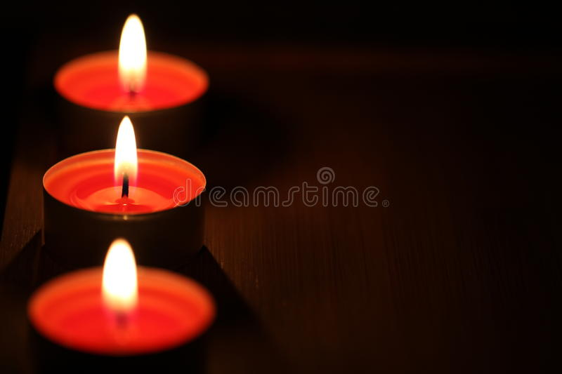 Download Red Candles On Dark Background Stock Image - Image of nature, december: 28098327