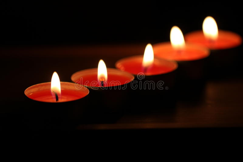 Download Red Candles On Dark Background Stock Image - Image: 28098349