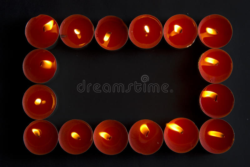 Download Red Candles Frame Royalty Free Stock Photography - Image: 20244007