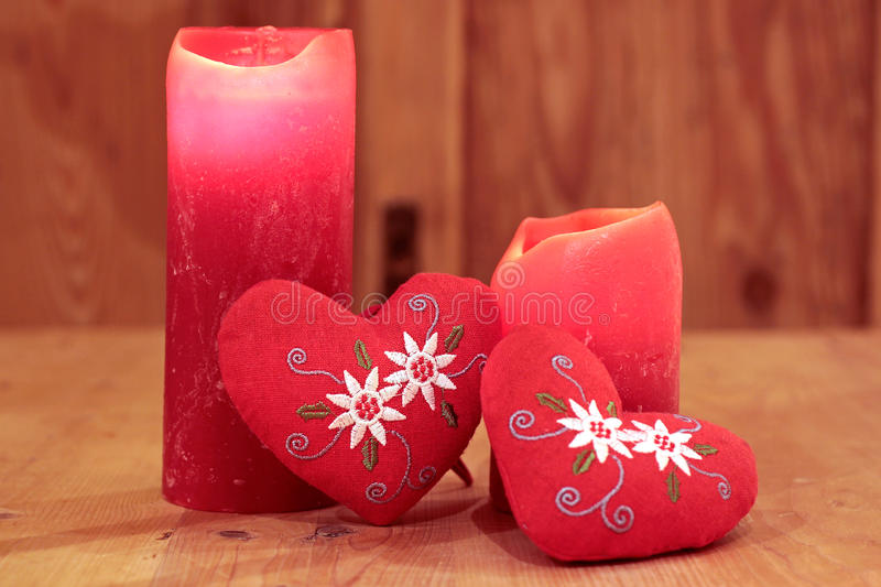 Download Red candles and hearts stock photo. Image of candles - 21094286