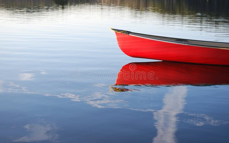 Download Red Canoe stock image. Image of algonquin, boating, wilderness - 2891877