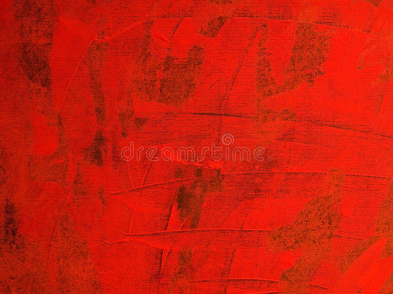 Red canvas. Oil painted red canvas with structure stock photos