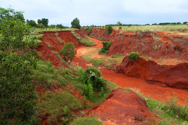 The red canyon at Binh Thuan, Vietnam. royalty free stock photos