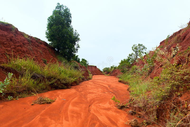 The red canyon at Binh Thuan, Vietnam. stock photography