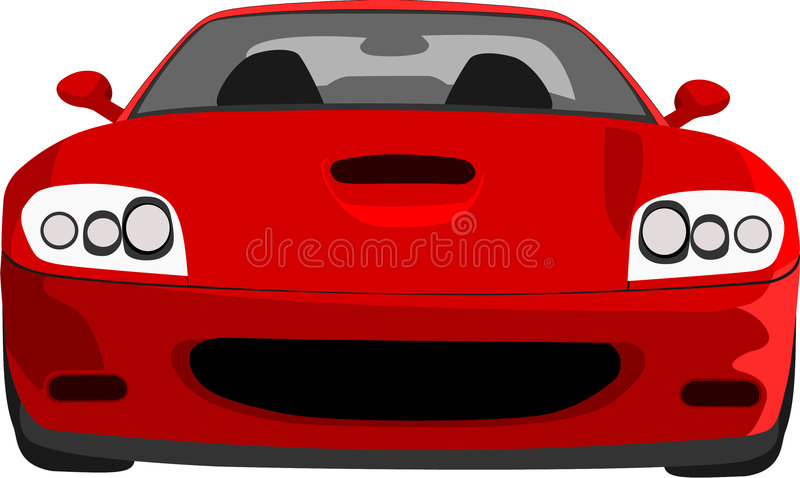 Download RED CAR editorial stock image. Image of transport, graphics - 1552404