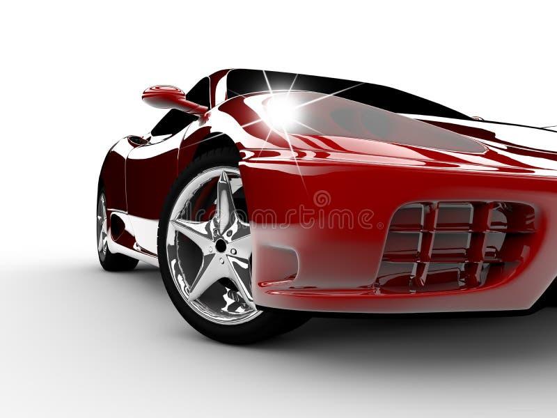 Red car stock illustration
