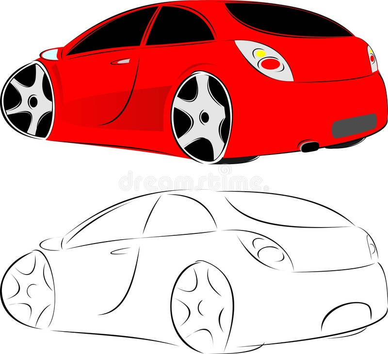 Red car royalty free illustration