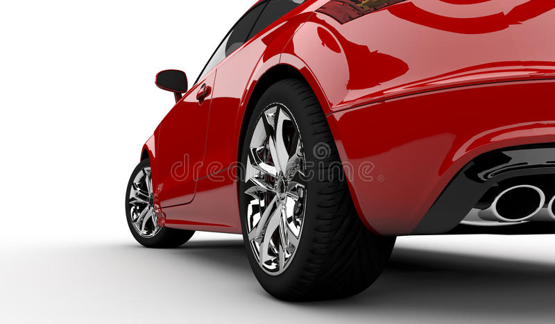 Red car. 3D rendering of a red car on a white background vector illustration