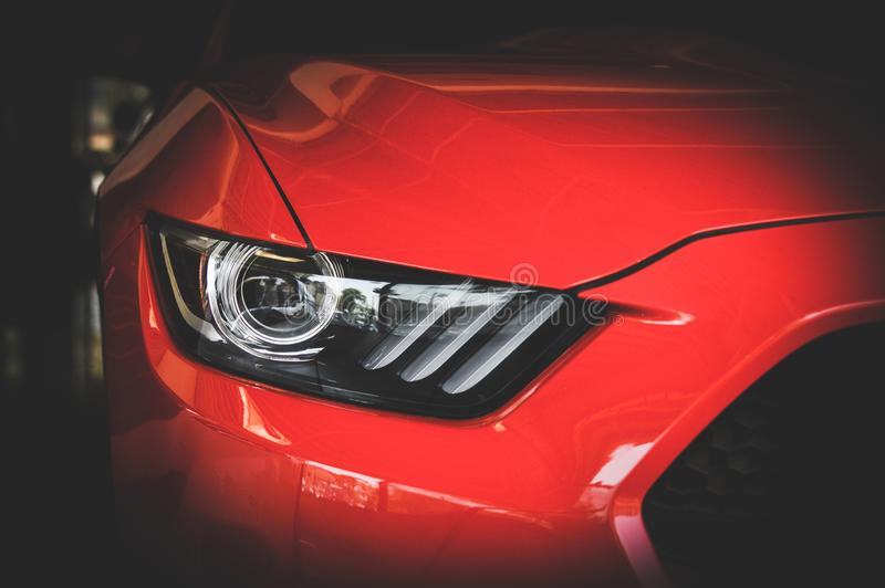 Red Car Head Light royalty free stock images