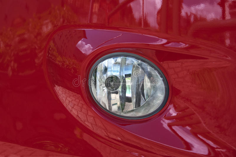 Download Red car headlight stock image. Image of front, style - 26382729