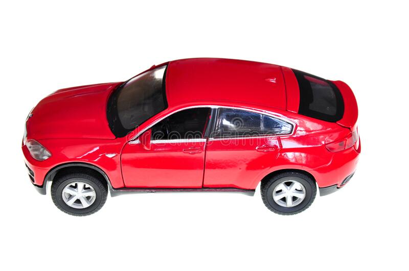 Red car. Isolated on white stock images