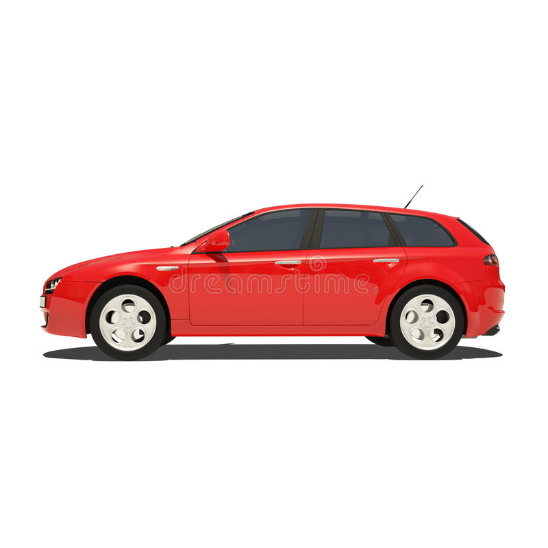 Download Red Car Isolated On White Background Stock Illustration - Image: 34041971