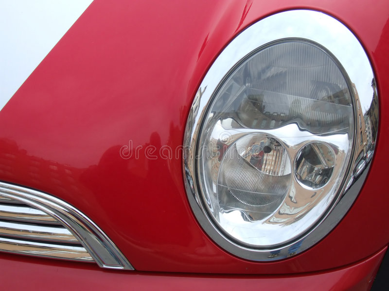 Red car reflector stock photo