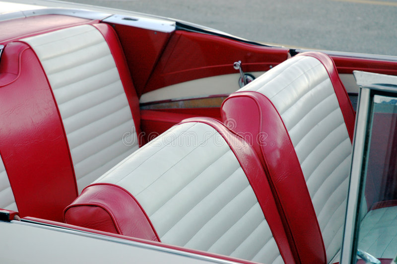 Red car seats royalty free stock photography