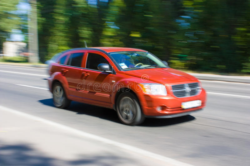 Download Red Car Speeding stock photo. Image of activity, traveling - 11492442