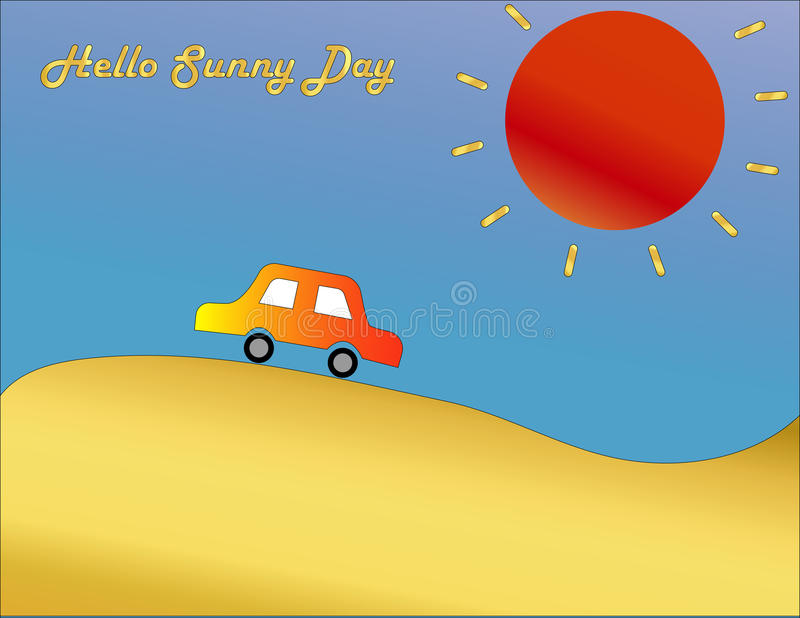 Red Car on the sunny day royalty free stock photography
