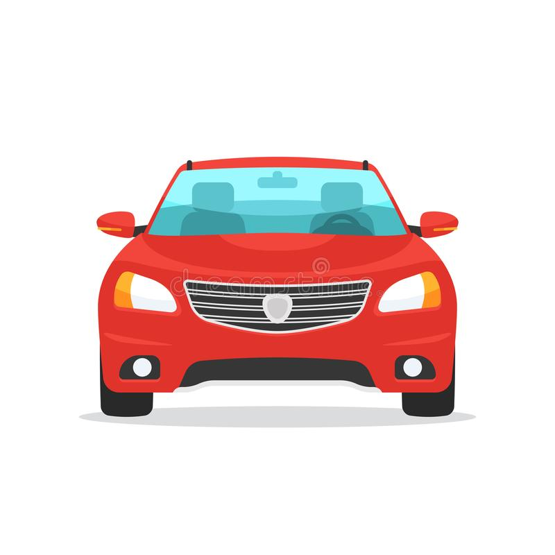 Red Car Front View Stock Vector Illustration Of Cartoon 101748768