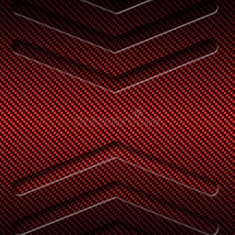 Abstract Red Carbon Fiber Textured Material Design Stock ...