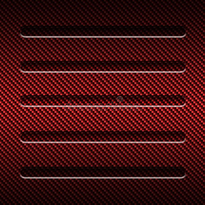 Red Carbon Fiber Metal Background And Texture. Material ...