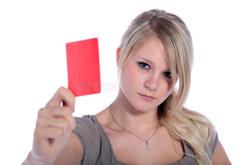 Download Red card stock image. Image of penalty, fair, single - 11788657