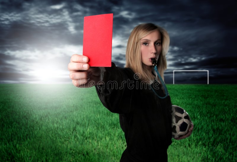 Download Red card stock photo. Image of illegal, admonition, card - 8351188