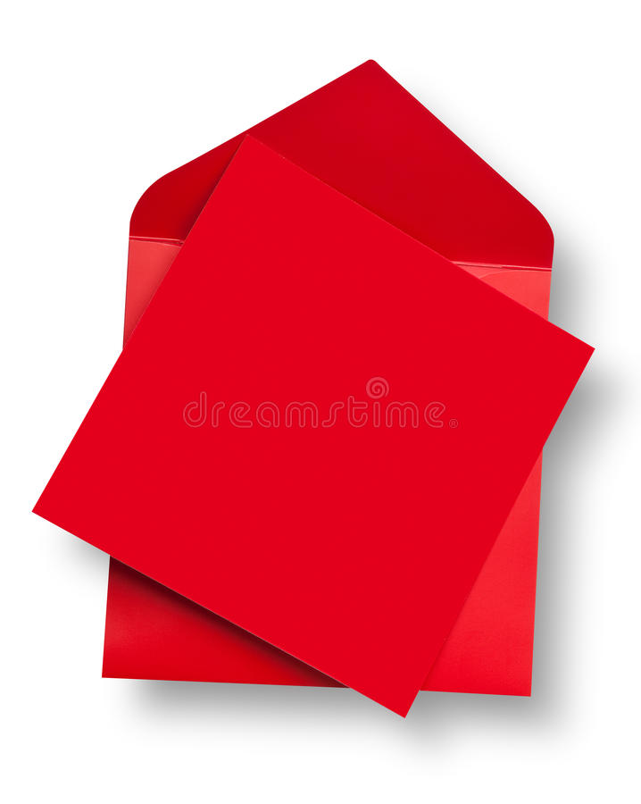 Red card and envelope.