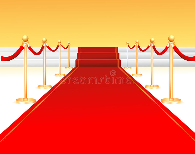 Download Red carpet entrance stock vector. Image of rope, passage - 10164414