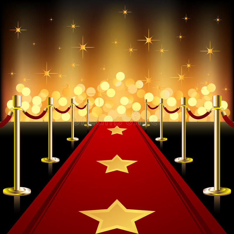 Download Red Carpet stock vector. Image of glittering, luxury - 16177168