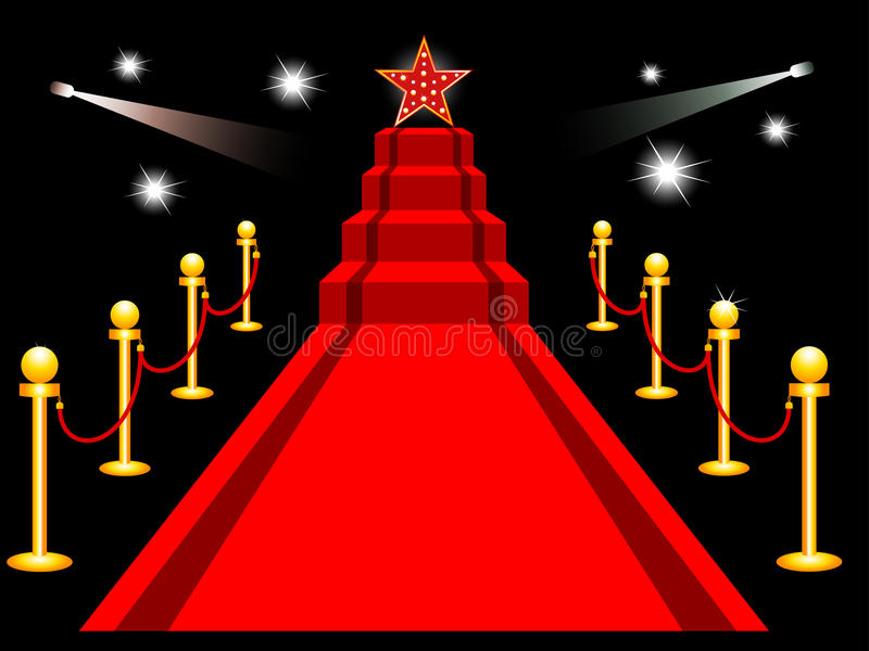 Download Red carpet stock vector. Illustration of success, ceremony - 16554936