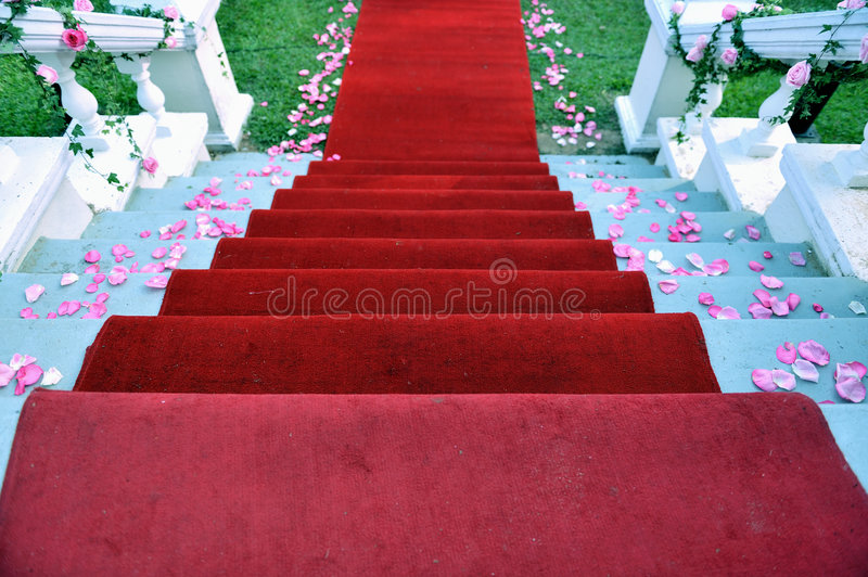 Red Carpet 3. A red carpet at an event stock image