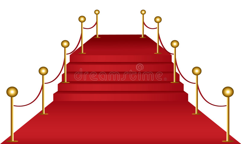 Download Red carpet stock vector. Image of celebration, isolated - 8932648