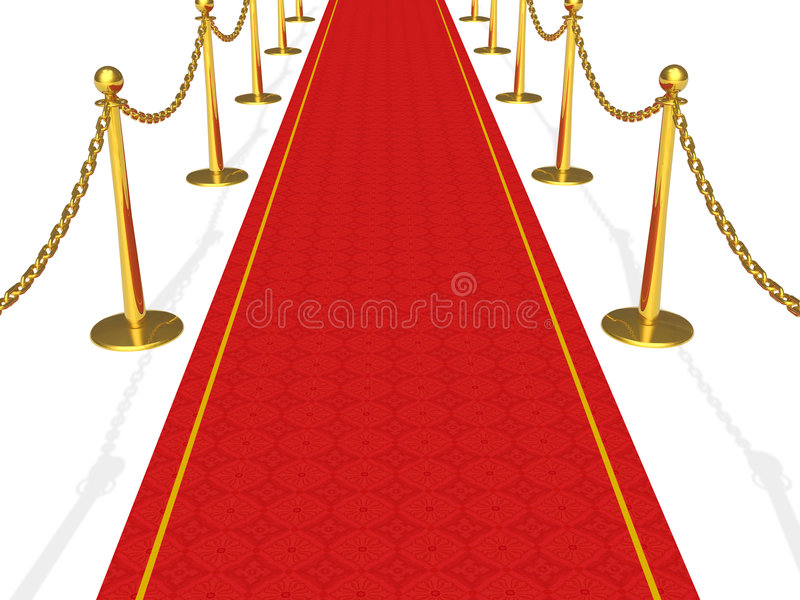 Download The red carpet stock illustration. Image of carpet, exclusive - 9254664